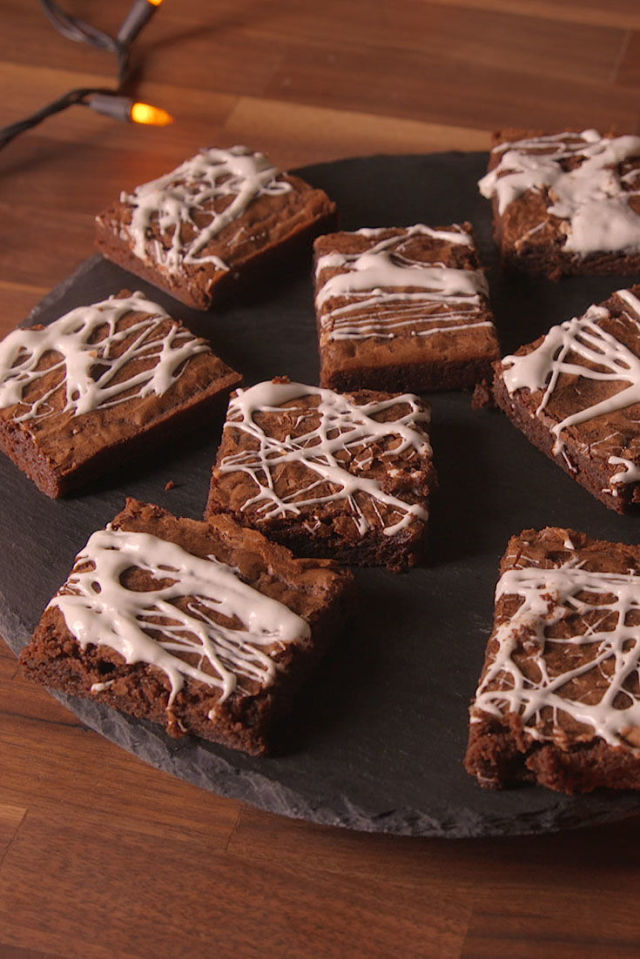 Cobweb Brownies